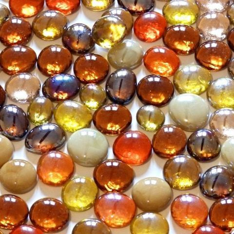 Decorative Glass Pebbles 15 20mm